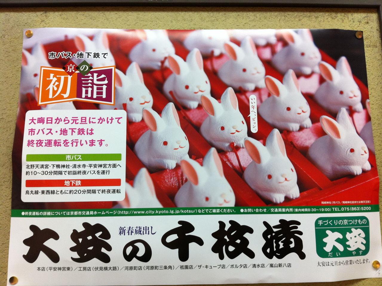 ウサギの置物ポスター