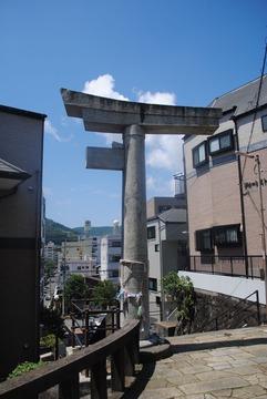 【長崎原爆遺構】一本柱鳥居@山王神社