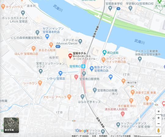 googlemaps宝塚ホテル