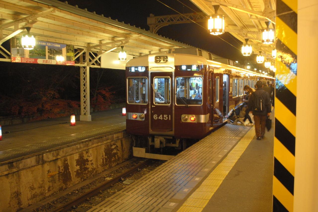 夜の阪急嵐山駅-3