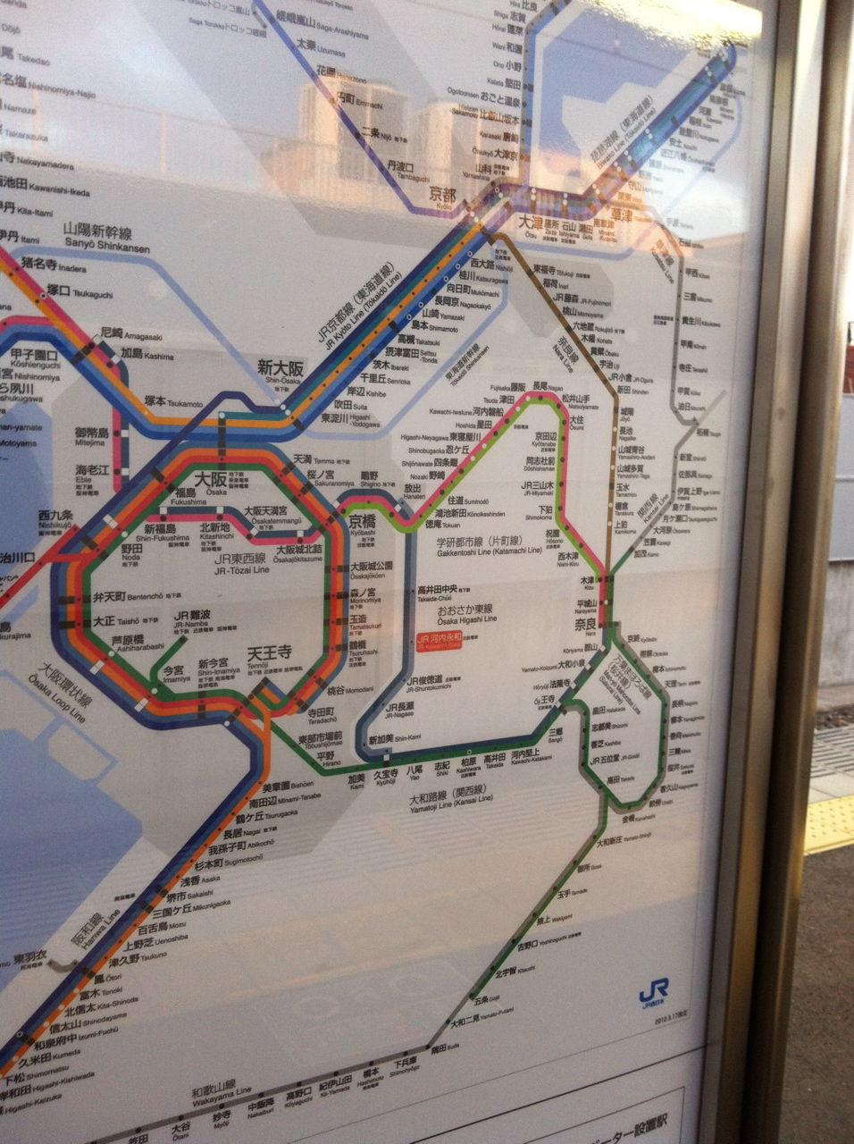 おおさか東線路線図