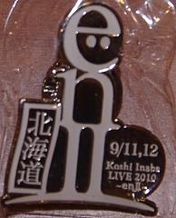 稲葉浩志 LIVE 2010〜enII〜 ガチャガチャツアーロゴバッジ北海道きたえーる