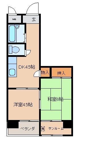ソラリア404号間取図