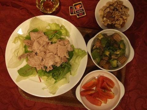 本日の夕食(糖質制限食)
