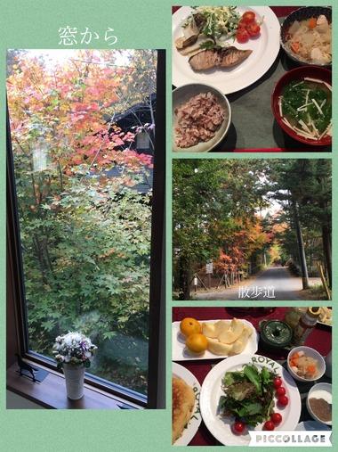 紅葉と食事