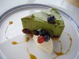 有機抹茶と小豆のケーキ