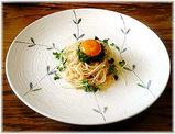 たらこと野沢菜の和風スパゲティ