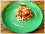 かにと魚介類のトマトスパゲティ