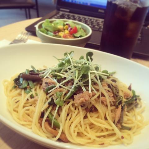 151109ツナと山菜のぺペロンチーノ