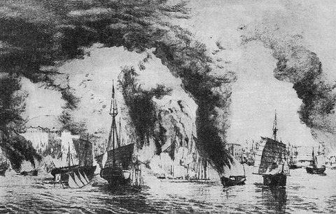 Naval_battle_between_Taiping-Qing_on_Yangtze