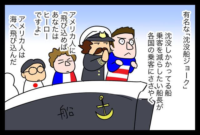 ジョーク 沈没 船