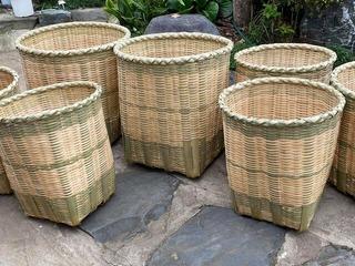 カラ竹背負い篭丸