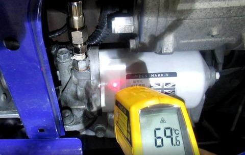 フィルターで油温測定