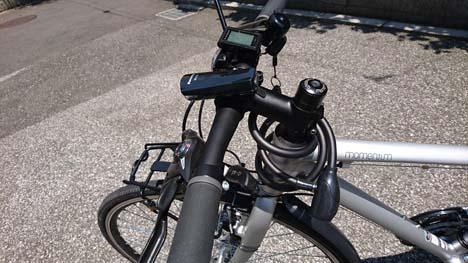 クロスバイクのハンドルを下げてみました!