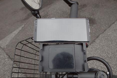 クロスバイクのスマホホルダーを買い替え、スマホの機種変更が原因です。