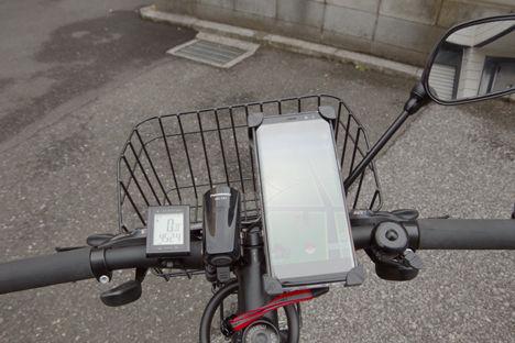 クロスバイクのスマホホルダーを買い替え、3