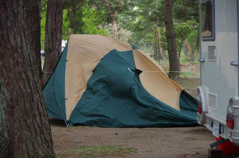 強風時のいテントもこれなら安心2