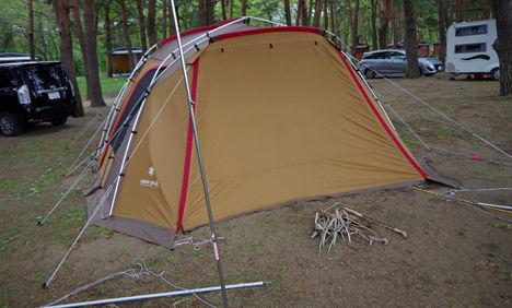 テントの強風対策は、テント買い直しの前にペクの補強を!