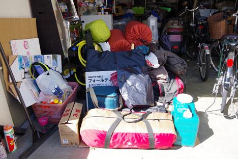 キャンプ用品の収納は車1台分、皆さんどうされていますが?2