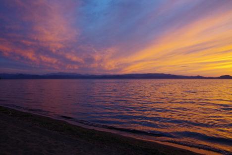 2015-9-猪苗代湖の夕焼け2