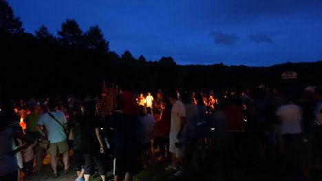 北軽井沢スウィートグラスのキャンプファイヤーは、ビンゴ大会以上に盛り上がる人気イベントです!