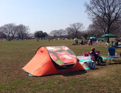 テントの試し張りや濡れたテントの乾燥に!彩湖・道満グリーンパークでのデイキャンプ!