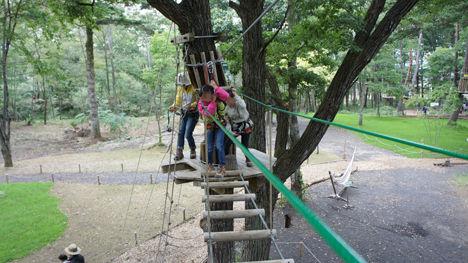 地上12mの森を冒険するフォレストアドベンチャーがお勧め!4