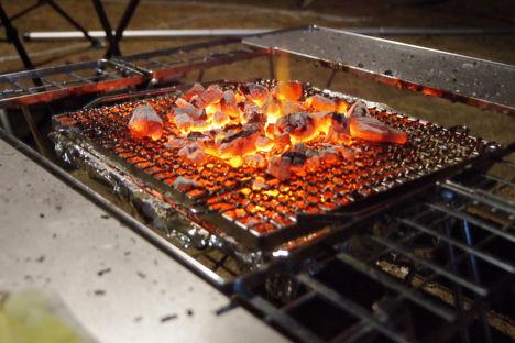 スノーピークの焚き火台、洗わなくても拭き拭きだけでOK2