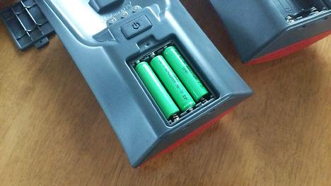 クアッドLEDランタンには100円ショップの充電池がお薦め!3