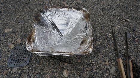 スノーピークの焚火台Sの掃除を簡単にする方法3