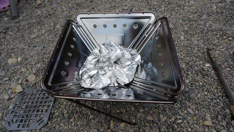 スノーピークの焚火台Sの掃除を簡単にする方法4