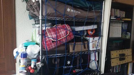増え続けるキャンプ用品の収納、片付けるたびに変わります。2