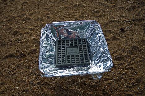 スノーピークの焚火台Mの掃除を簡単にする方法2