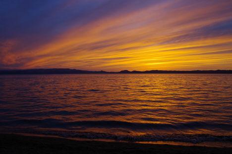 2015-9-猪苗代湖の夕焼け3