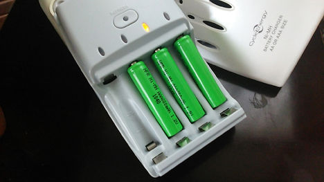 クアッドLEDランタン、100円ショップの充電池がお薦め!5