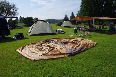 キャンプ撤収時のタープの効果