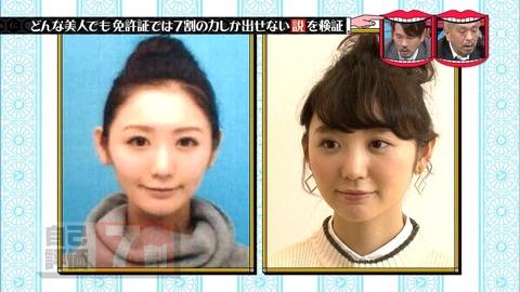 【芸能】おのののか、橋本マナミも!? 運転免許証の写真を巡る検証結果が話題に