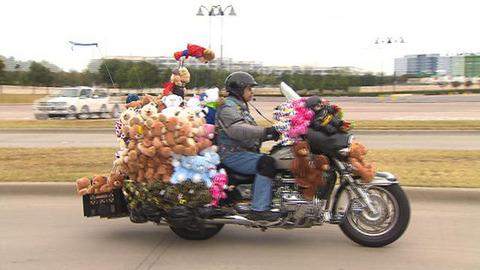 バイクにぬいぐるみのせてる奴いるの?