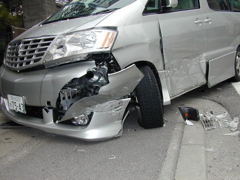 自損事故で愛車が廃車になったった