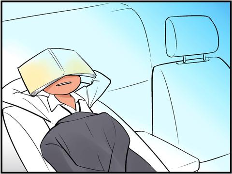 ワイ営業、今日も営業車でスヤスヤお昼寝