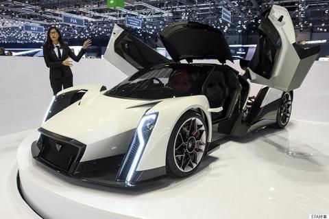 【車】その名は「デンドロビウム」 1000馬力の電動スーパーカーの華麗な姿