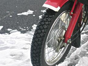 バイク用冬タイヤ意味なさすぎワロタwwwwwwwwwwwwwwwwwwwwwwwwwwwwww