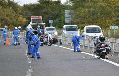 【佐賀】750ccバイクが転倒、38歳男性が死亡 11台でツーリング中