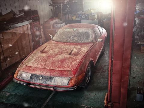 40年間日本の倉庫に放置された激レアなフェラーリがオークションで2億円に 世界中から問い合わせ殺到