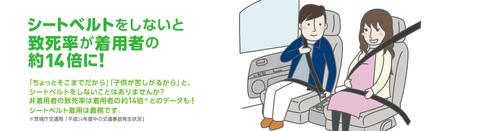 【社会】シートベルトなし→命の危険14倍 運転席では50倍