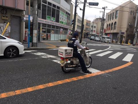 【京都】巡査、ノーヘルでバイク巡回「帽子で気付かず」