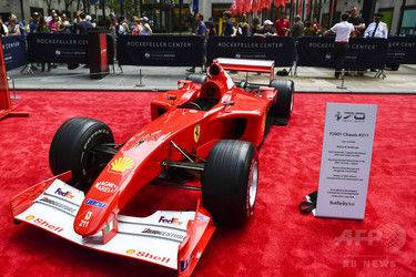 【F1】ミハエル・シューマッハ氏のフェラーリ、8.4億円で落札 近代F1マシン史上最高
