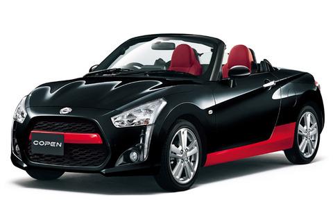 【クルマ】ダイハツ、軽オープンカー「コペン」を一部改良 黒と赤のツートーン仕様登場を設定