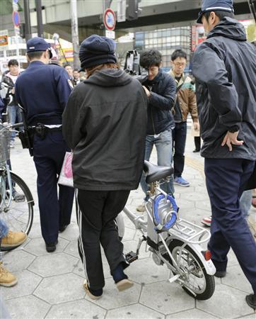 【改正道交法】福岡で1時間に警告の自転車90人