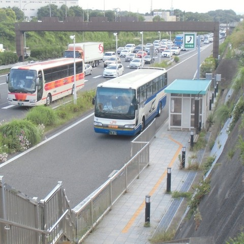 綾瀬バス停で渋滞!!!